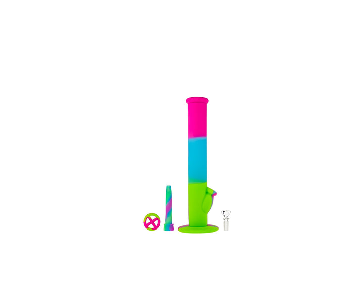 Bong Silicone L.Blue+Pink+Green 36cm