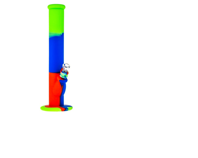 Bong Silicone Green+Blue+Red 36cm