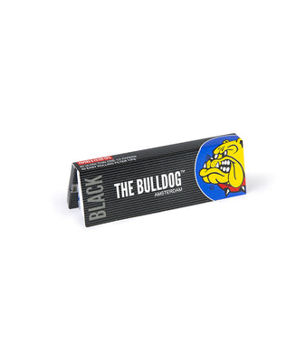 Χαρτάκι Στριφτού The Bulldog Amsterdam Black 1 1/4+Tips