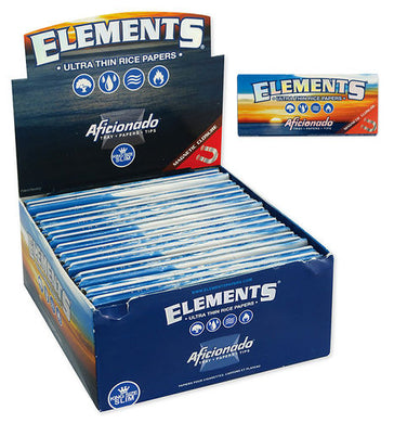 Χαρτάκι στριφτού Elements Aficionado K/S Slim+Tips Magnetic Closure