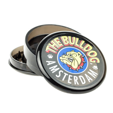 Grinder The Bulldog Trans Black 3 Part Plastic - rollit-gr