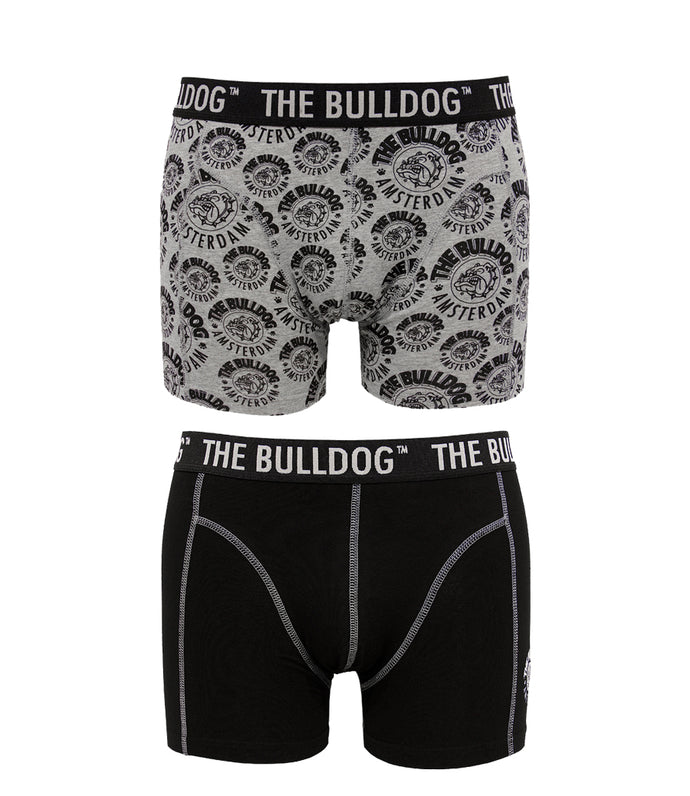Boxer The Bulldog Amsterdam 2-Pack Grey XL - rollit-gr