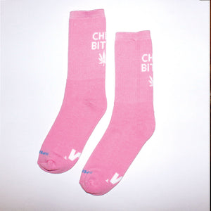 420 Chill Bitch Unisex Pink Socks 36-40 - rollit-gr