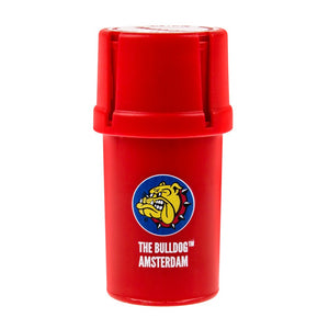 Grinder The Bulldog Amsterdam Medtainer Red - rollit-gr