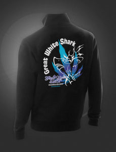 Great White Shark Black Sweater With Zipper - rollit-gr