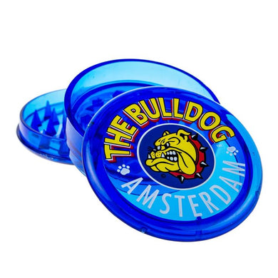 Grinder The Bulldog Trans Blue 3 Part Plastic - rollit-gr