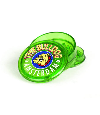 Grinder The Bulldog Trans Green 3 Part Plastic