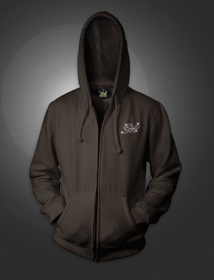 Africa Expedition Brown Hoodie with Zipper - rollit-gr