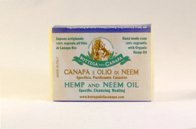 Vegetable Soap whith Hemp and Neem Oil 100gr.