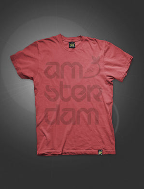 ATS018-S Τ-shirt AMSTERDAM-FIRE RED - rollit-gr