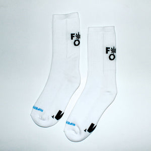 420 F*ck Off Unisex White Socks 41-46 - rollit-gr