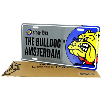 Licenseplate The Bulldog Silver