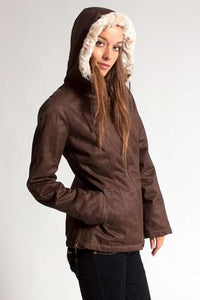 Ladies' Classic HoodLamb Brown