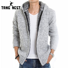 TANGNEST 2017 Fur Inside Thick Autumn & Winter Warm Jackets Hoodies Hodded Men's Casual 5 Color Thick Hot Sale Sweatshirt 179