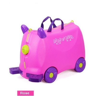 Lovely animal creative animal locker baby Toy box luggage suitcase1 8L boy  Pull rod box Can sit to ride Check box children gift
