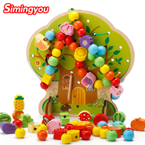 Simingyou Puzzle Montessori Educational Wooden Toys Tree Bead Wooden Toys For Children Drop Shipping DX52
