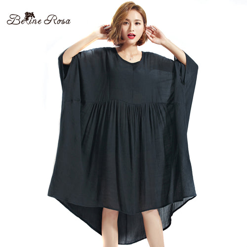 BelineRosa 2017 Big Size Dress Plus Size Women Clothing 5XL 6XL 7XL Black Dresses For Women Female TYW00339