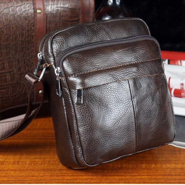 3b27d6212be7 ... BULL CAPTAIN 2017 Fashion Genuine Leather Shoulder bags men business Crossbody  Bags mini Brand casual Male