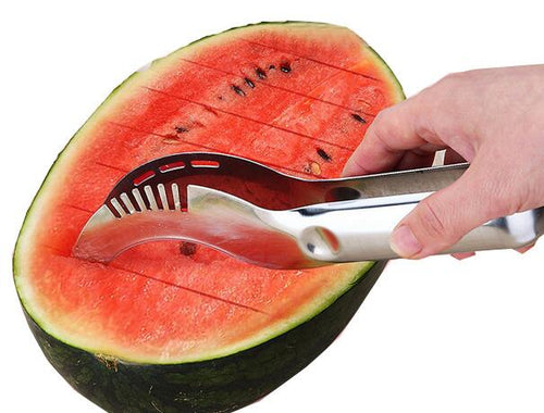 2pcs/lot Stainless Melon Slicer Cutter Corer Server Splitter Watermelon Cantaloupe Scoops