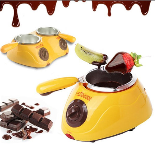 220V Electric Chocolate Pot Fountain Hotpot Chocolate Melt Pot Machine 1 Pot or 2 Pots Party Tools
