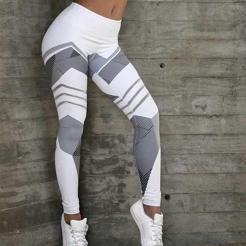 High Waist, Women's Printed Bodybuilding Legging, Exercise Clothing