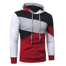 2017 Men's Sweatshirt & Hoodies Hip Hop Hoodies Male Brand Hoodies Color Striped Patchwork Men Slim Fit Men pullover Hoodie W117