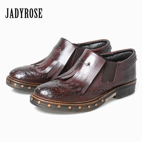Jady Rose British Women Flats Tenis Feminino Rivet Studded Platform Creepers Female Casual Loafers Flat Ladies Shoes Espadrilles