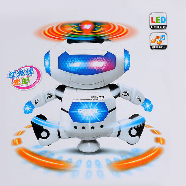 RC Robot Toy Remote Control Electronic Toy Robot Pet Walking Dancing Lightning Musical Toys For Children Kids Boy girl  Gift