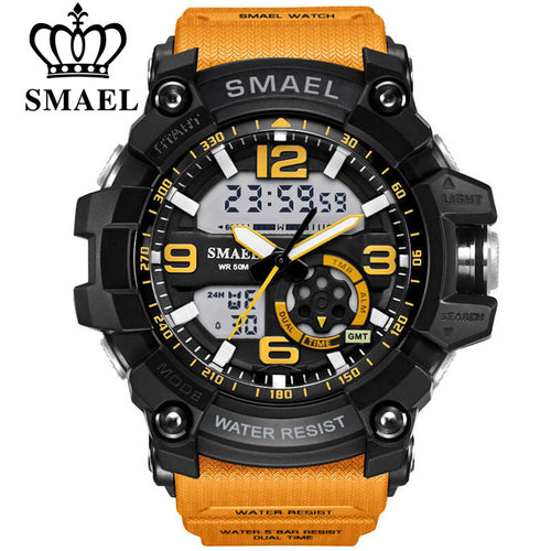 SMAEL Digital Watch Men Sport Super Cool Men's Quartz Sports Watches Luxury Brand LED Military Wristwatch Male xfcs