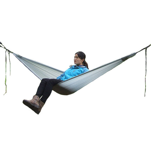 Hammock Single Person Camping Hammock for Travelling Hiking Treking with Attached Stuff Sack Camping Furniture hamaca