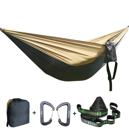 Solid Color Parachute Hammock Camping Survival garden swing Leisure travel Double Person Portable Hammock for outdoor furniture