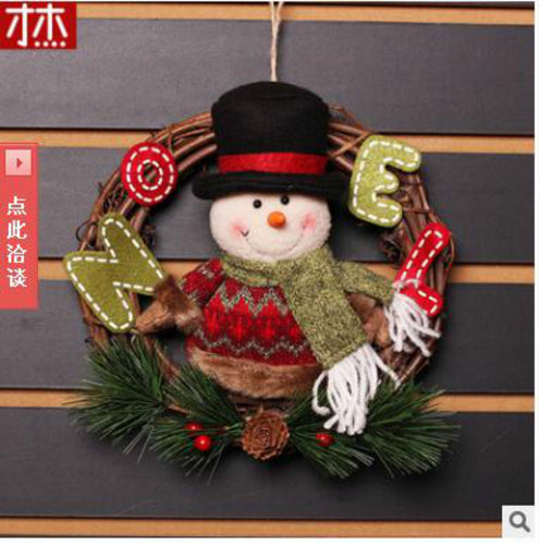 Noel 2017 Navidad 20CmX20Cm Christmas Pendant Chrsitmas Drop Ornaments  Christmas Decorations For Home