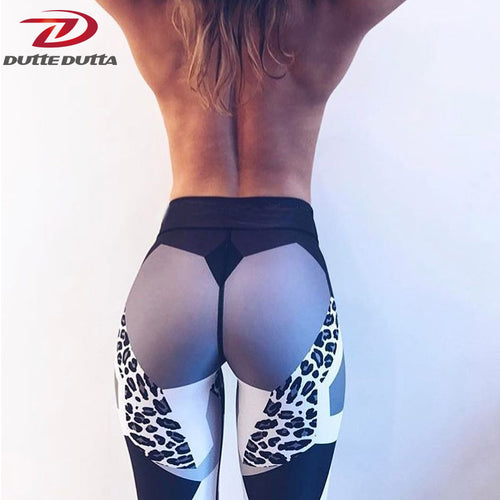 Sexy Leopard White Yoga Sweat Pants Workout For Women Sport Legging Gym Moto Legentsy Sportswear Fitness Tight Athletic Clothing