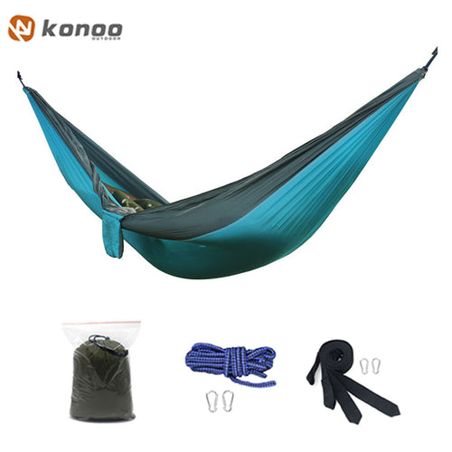 FF Camping Survival Gammak Base Garden Hunting Swing Leisure Travel Hammock Double Person Portable Parachute Outdoor Furniture