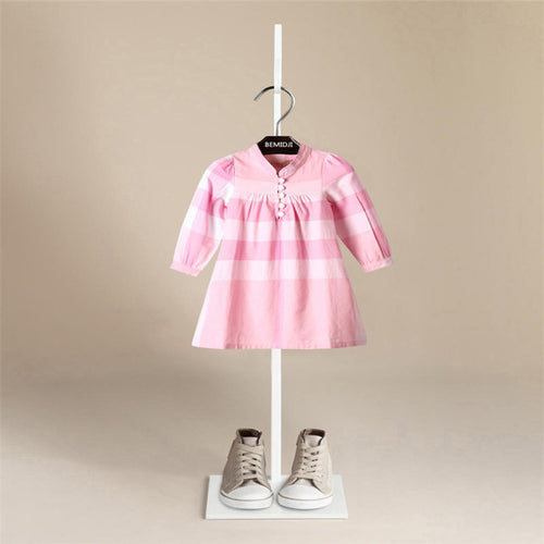 Girls Long Sleeve Cotton A-Line Dress