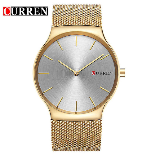 CURREN Fashion Men Watch Top Luxury Brand Sport Military Business Army Male Clock Steel Band Wrist Quartz Mens Watches Gift 8256