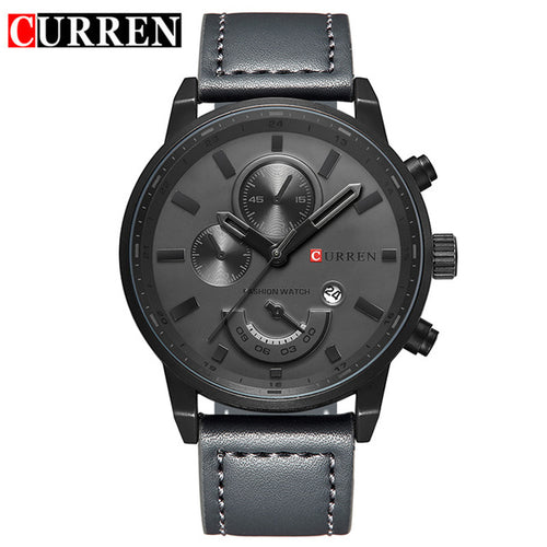 relogio CURREN Watches Men Sport Military Army Clock Top Brand Luxury Mens Watch Leather Strap Date Quartz Male Clocks Gift 8217