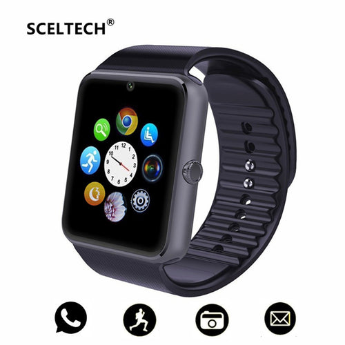 SCELTECH GT08 Bluetooth Fitness Tracker Smart Watch Anti-lost Passometer for iPhone Xiaomi Huawei Android Smartphone PK DZ09 Q18
