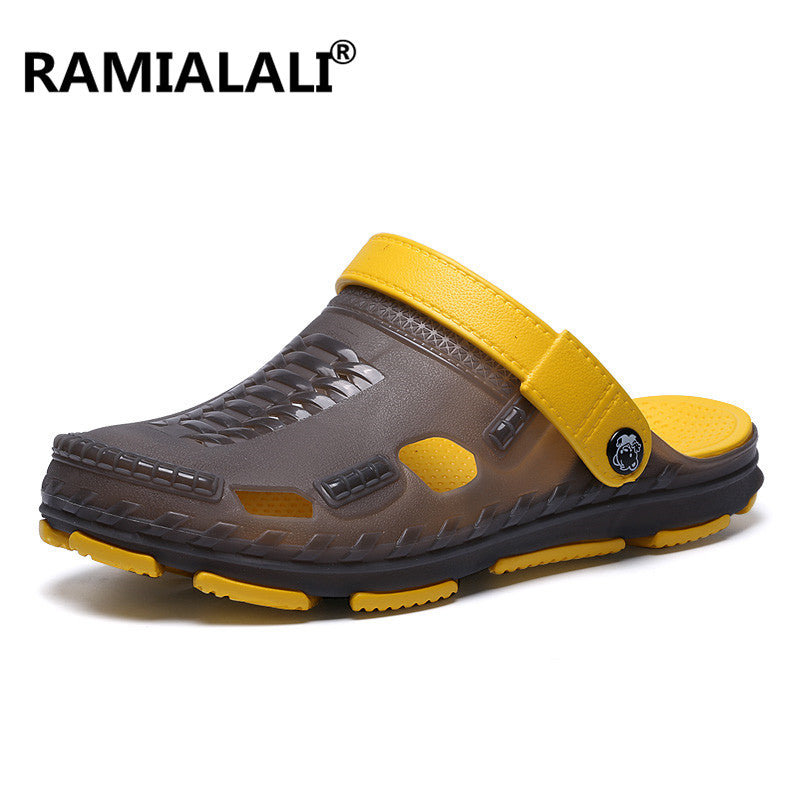 656773a7be538 ... Ramialali Men Fashion Sandals Summer Men's Slippers Shoes Beach Casual  Breathable Home Slippers Men Shoes Flip ...