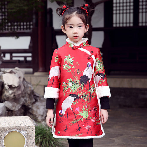 Cheongsam Girls Red Dress