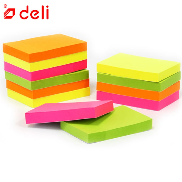 Deli 12pcs Multi color Mini Memo Paper Sticky Notes Office Love Memo Pads Sticker Bookmark Marker Sticker Planner Briefpapier