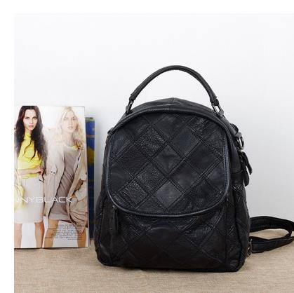 cd7380e487 Caerlif women backpack new 2016 leather backpack grid color multi-purpose bag  women backpack leather