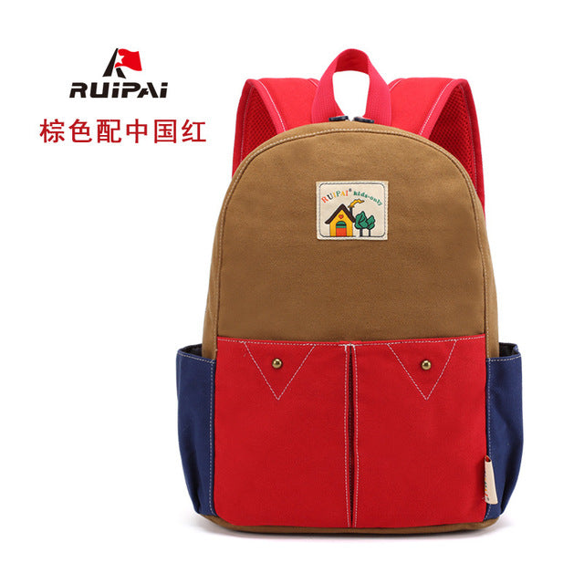 f142afb410e9 RUI PAI 2016 School Bags for Teenagers Boys Girls Children Students Backpacks  Kid canvas Backpack printing