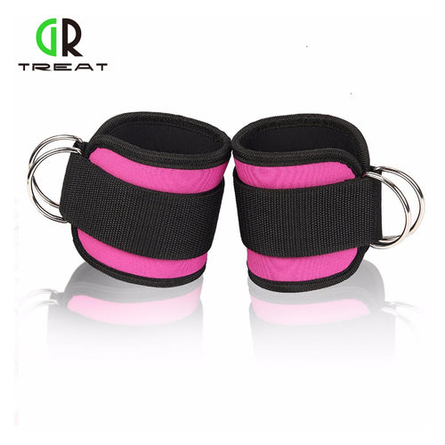 1 Pair Unisex Ankle Straps D-Ring For Cable Machines and Resistance Bands
