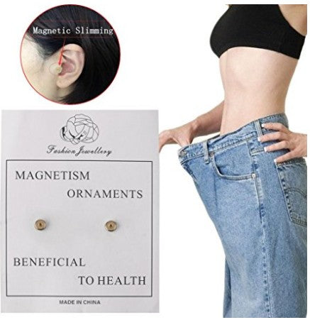 1 Pair Weight Loss Earrings Stimulating Acupoints Earring Bio Magnetic Slim Ear Stickers Therapy Massage Health Care