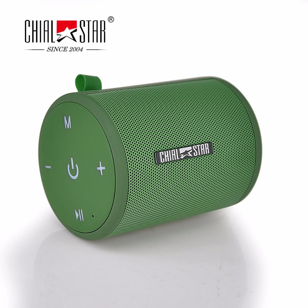Green Mini Speaker TWS Function Outdoor Pair Box Portable Bluetooth  Speakers for Iphone Samsung Android Phones FM Radio