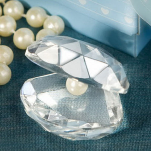 100 PC Beach Theme Crystal Clamshell Wedding Favor / Baby Christening Gift