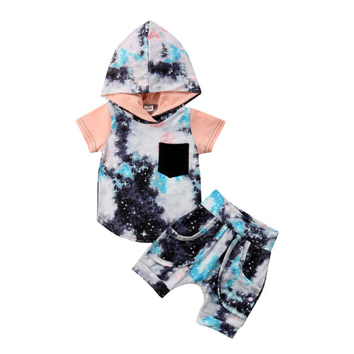 Toddler Infant Baby Girl Boy Clothes Set Short Sleeve Cotton Hoodies Tops+Pants 2Pcs Outfits 2018 Autumn Baby Girls Clothing Set