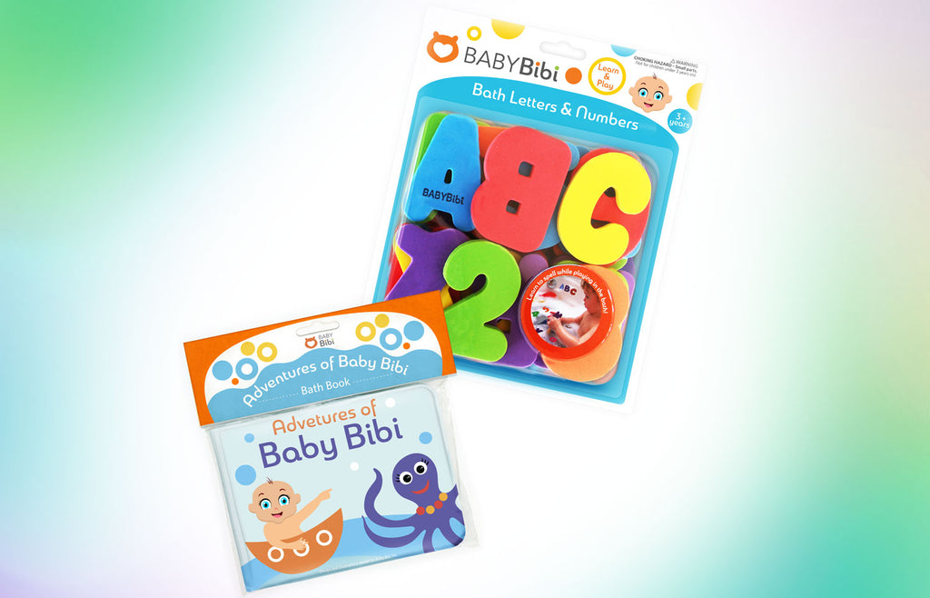 Floating Baby Bath Books (Pack of 4) by Baby Bibi. Set of: Fruit ...