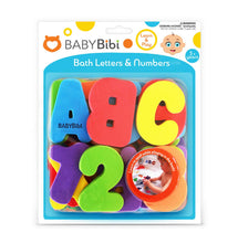 Bath Toys 36-Piece Set. Stick-On Foam Letters & Numbers